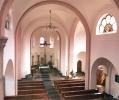 Blick von der Orgelempore zum Chor